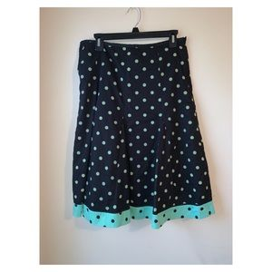 Jennifer & Grace| swing skirt polka dot size 10